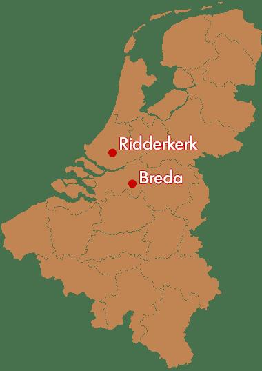 kaart vestigingen