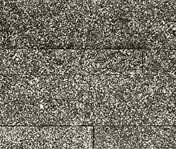 Glimmende zwarte steenstrips backwall