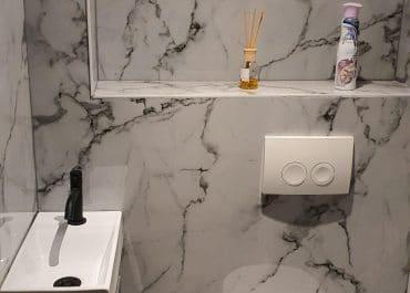 Marmeren Wand Toilet