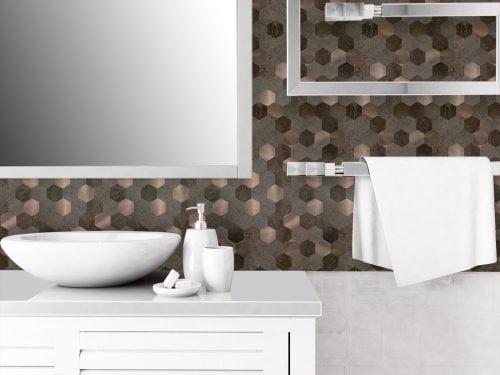 Zelfklevende mozaiek strips badkamer