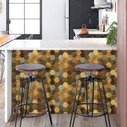 Keuken wand met Mozaiek hexagon
