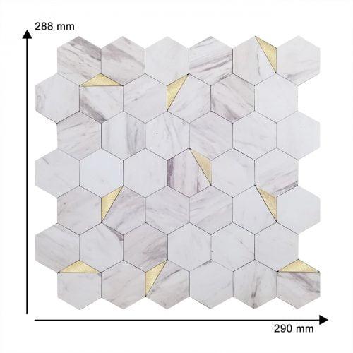 Wit marmer mozaiek