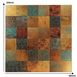 Mozaiek tegels goud bruin
